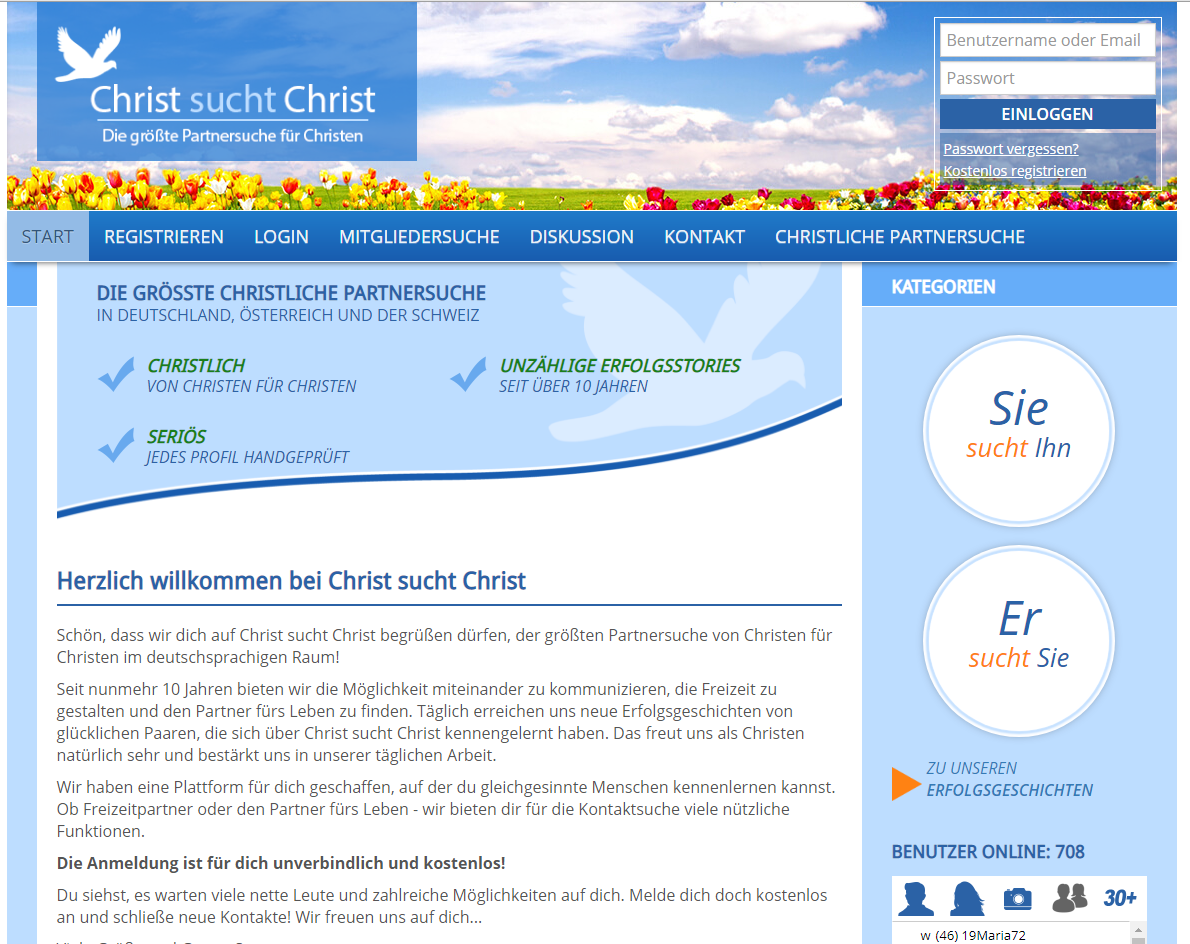Online-dating für den christen